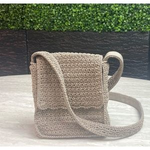 First Issue Liz Claiborne Knit Messenger Bag